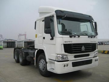 White Color 4X2 6 Wheelers Tractor Truck 371Hp سوخت دیزل نوع یورو 3